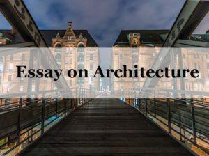 Essay on Architecture