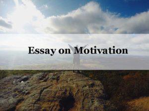 Essay on Motivaion